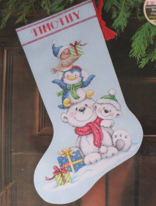 Christmas Stocking Kit.Critters Stocking Kit
